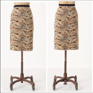 Anthropologie Sparrow Abstract Forest Skirt